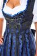 Schwarzes 3tlg. Dirndl mit Blau Paisley-Muster